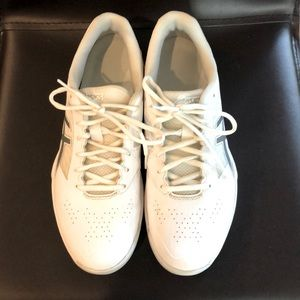 ASICS white and silver sneaker 9.5